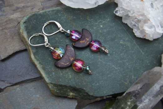 Moon Glamour Earrings by Avelith