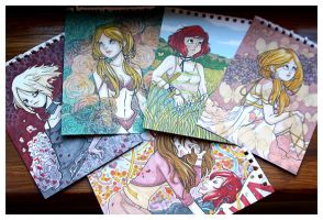 A6 Commission Examples - photo by tea-bug