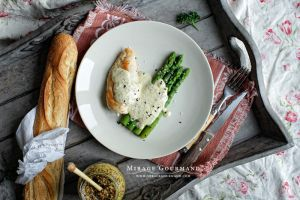 Chicken and aspargus with mustard creamy sauce by MirageGourmand