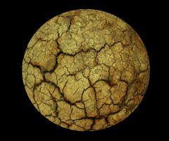 037 Cracked Rock Sphere by Tigers-stock