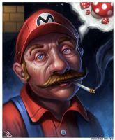 Super 'Stoned' Mario by RogierB