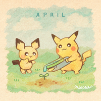 Monthly Pikachu - April by Paleona