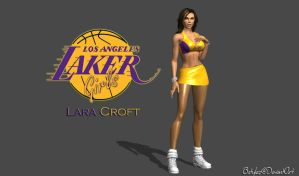 LA Laker Girl Lara Croft (Re-Updated) by bstylez