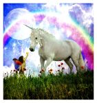 Little Fairy And The Unicorn by TheFantaSim