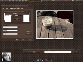 Coffee Bister's desk show by sam08245