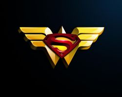 Superman Wonder Woman logo by MrK-8
