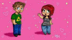 Me and Rob chibi by XxXRifRafXxX