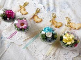 Roses and Lace Mori Girl Keychains by KeoDear