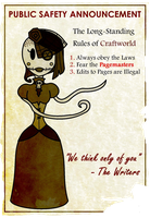 Twisted Fairy Tale Project - Safety Poster by Miserable-in-Orange