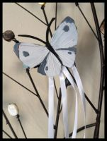 Cabbage White Butterfly Hair Clip by Mink-the-Satyr