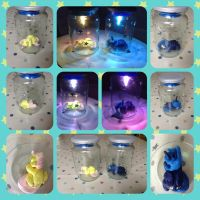 AT: Luna and Fluttershy Night-Light by Bissco