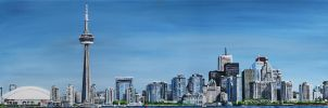 Toronto Oil Painting by Tyleen