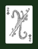 Drawing 2 Of Clubs OR 2 of Air by LineDetail
