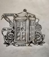 Doctor Who 'It's bigger on the inside' by gabsash