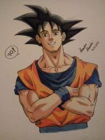 Goku sketch! by phantomcecco