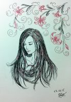 a girl by long-haired-lady