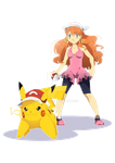 Misty and Ashchu by VanilliaWings