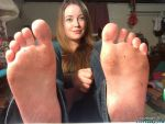 November's dirty soles right out of her shoes by footpunkz