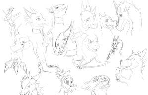 My Worst Sketch Dump by Tsitra360