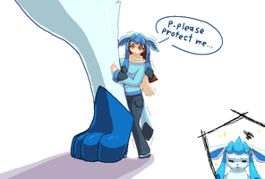 Tiny Glaceon Fan Contest Entry by candracar272