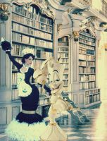 BEAUTY AND THE BEAST: Lumier... I love you by Princess-ValeChan