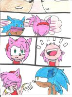 SonAmy: Embarrased Kiss by cmara