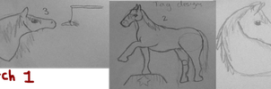 Horse Sketches! [Batch one] by DarkParadise24