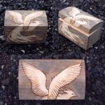 Pheonix Pyrography Box 2 by CosmosCrafts