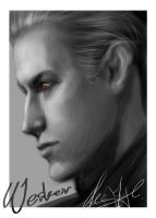 Albert wesker's sketch by xiaofeihui