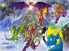 Dragon Christmas 2010 by Silver-HeartCrosser