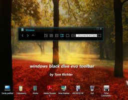 windows black dive evo toolbar by TomRichter