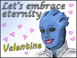 Mass Effect Valentine - Liara by efleck