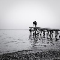 the black and white sea no.6 by herbstkind