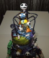 Closeup of Nightmare BC cake by reenaj