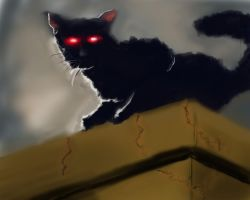 Speed Paint 015 Black Cat by ParjanyaVictor