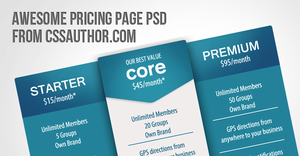 Awesome Pricing Page PSD for Free Download by cssauthor