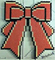 Big Red Christmas Bow by PerlerPixie