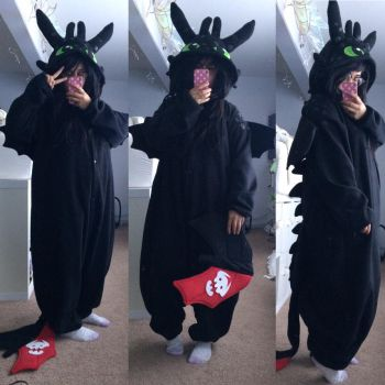 Toothless Kigurumi by faenettle