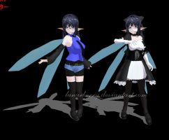 OC MMD Vocaloid - WIP by LunarBerry