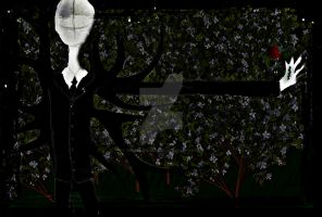 Slender Man in the forest by YunoBlackHazama