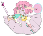 -Unfinished- Pearl and Rose -Utena Crossover- by stefi-tails