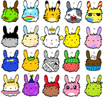 Fuzzy Bunnies Adopt Batch! CLOSED by ForeverFluffyAdopts