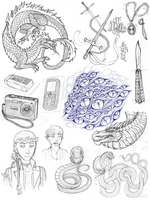 3-5-15 Art Dump Collage by Lucieniibi