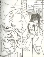 The Next Dimension cover line art version by SONICJENNY