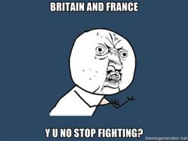 Y U NO Britain and France by chiichiimouse