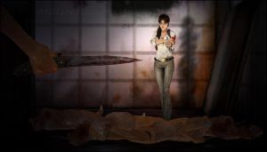 Lara Croft in Silent Hill - 2 by Indiana69
