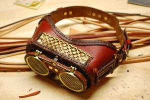 Red Leather Metal Band 2 by Bluebenu