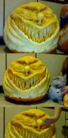 Scary Clown Pumpkin Sculpt by Carliihde
