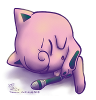 Jigglypuff Sleeping by ParallelPenguins