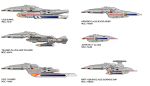 Voyager style starships by jbobroony
